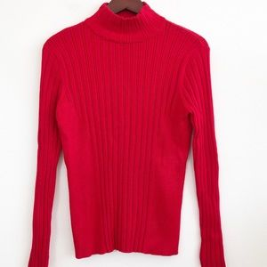 NWT PECK & PECK Turtleneck Ribbed Knit Sweater